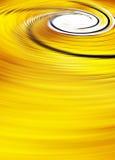 Fondo amarillo abstracto del remolino ilustración del vector