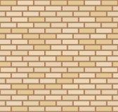 Fondo amarillo beige oscuro de la pared de ladrillo del vector Alba?iler?a urbana de la vieja textura Papel pintado del bloque de libre illustration