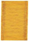 fondo amarillo caliente del grunge con los bordes rasgados Fotografía de archivo libre de regalías