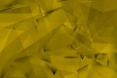 Fondo amarillo con ángulos y sombras Fotografía de archivo libre de regalías