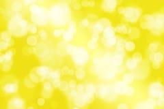Fondo amarillo con el bokeh Fotos de archivo libres de regalías
