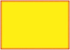Fondo amarillo con la frontera anaranjada Imágenes de archivo libres de regalías