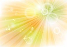 Fondo amarillo con los rayos Imágenes de archivo libres de regalías
