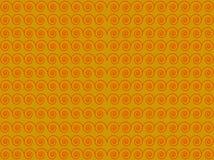 Fondo amarillo con un modelo rojo stock de ilustración