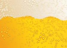 Fondo amarillo de la cerveza Imágenes de archivo libres de regalías