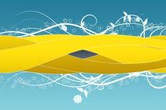 Fondo amarillo de la curva Imagen de archivo libre de regalías