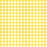 Fondo amarillo de la tela de la guinga Foto de archivo