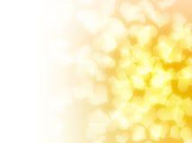 Fondo amarillo de los corazones del amor ilustración del vector