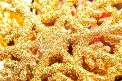 Fondo amarillo de los cristals del invierno Foto de archivo libre de regalías