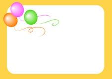 Fondo amarillo de los globos Fotos de archivo libres de regalías