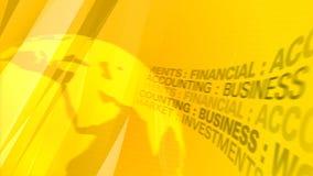 Fondo amarillo del extracto del negocio almacen de video