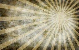 Fondo amarillo del grunge de la vendimia con los rayos del sol libre illustration