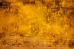 Fondo amarillo del muro de cemento Foto de archivo