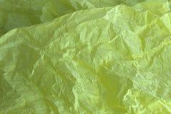 Fondo amarillo del papel seda Foto de archivo libre de regalías