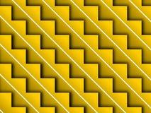 Fondo amarillo del paso de progresión de la escalera Fotografía de archivo libre de regalías