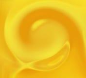 Fondo amarillo del remolino Imagen de archivo libre de regalías