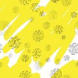 Fondo amarillo del vector, blanco y negro abstracto Foto de archivo libre de regalías
