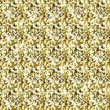 Fondo amarillo del vector del brillo del brillo, modelo inconsútil del extracto de oro de la chispa, papel pintado que brilla int Fotografía de archivo