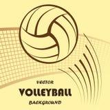 Fondo amarillo del voleibol Fotos de archivo