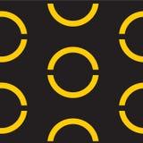 Fondo amarillo geométrico inconsútil Ilustración del vector libre illustration