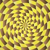 Fondo amarillo-marrón abstracto del shading stock de ilustración