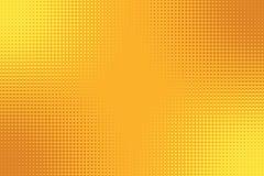 Fondo amarillo-naranja de oro del arte pop con el efecto de semitono libre illustration
