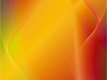Fondo amarillo-naranja del extracto del oro con la onda Foto de archivo libre de regalías