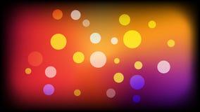 Fondo amarillo negro del vector con los círculos Ejemplo con el sistema de brillar la gradaci?n colorida Modelo para los folletos stock de ilustración