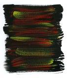 Fondo amarillo, rojo y negro de la acuarela Fotografía de archivo libre de regalías
