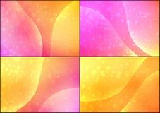 Fondo amarillo soleado del brillo stock de ilustración