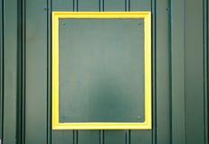 Fondo amarillo vacío del marco Fotos de archivo libres de regalías