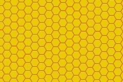 Fondo amarillo y anaranjado moderno del hexágono Imagen de archivo libre de regalías