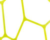 Fondo amarillo y blanco de la textura geométrica regular de la tela, modelo del paño Fotos de archivo