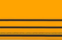 Fondo amarillo y negro de la escuela Imagenes de archivo