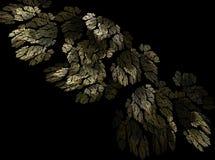 Fondo amarillo y verde de la luz del efecto del fractal del extracto del otoño de las hojas Foto de archivo libre de regalías
