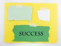 Fondo amarillo y verde del éxito Imágenes de archivo libres de regalías