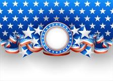 Fondo americano Imágenes de archivo libres de regalías