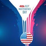 Fondo americano abstracto del Día de la Independencia ilustración del vector