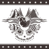 Fondo americano de la guerra civil con el jefe del bisonte y de armas libre illustration