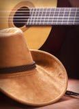 Fondo americano de la música country con el sombrero de vaquero Foto de archivo libre de regalías