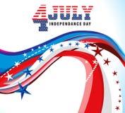 Fondo americano del Día de la Independencia ilustración del vector