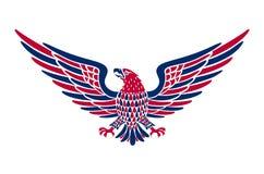 Fondo americano del águila Fácil corregir el ejemplo del vector del águila con la bandera americana para el Día de la Independenc Foto de archivo