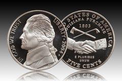 Fondo americano di pendenza di cinque centesimi royalty illustrazione gratis