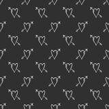 Fondo, amore e frecce del cuore di vettore Immagine Stock