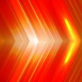 Fondo anaranjado abstracto con las flechas Fotos de archivo