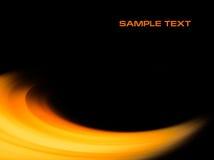 Fondo anaranjado abstracto de la curva stock de ilustración