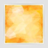 Fondo anaranjado abstracto del triángulo