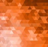 Fondo anaranjado abstracto del vector del mosaico Fotografía de archivo libre de regalías