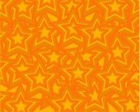 Fondo anaranjado abstracto que consiste en las estrellas anaranjadas stock de ilustración