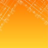 Fondo anaranjado arquitectónico ilustración del vector